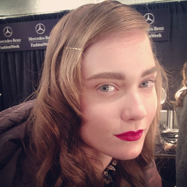 @basiaszkaluba @imgmodels @noonbynoor #beauty #nyfw #polish #red #lips