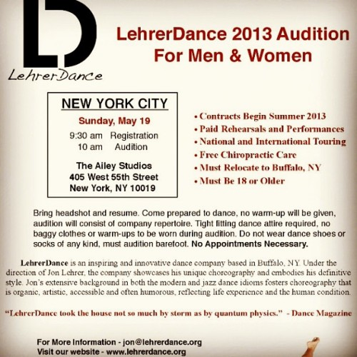 Still coming for you, NYC. #NYC #dance #audition