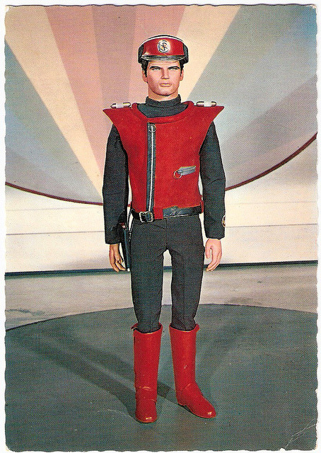 bobspostcards:  Gerry Anderson (1929 - 2012) on Flickr.Captain Scarlet. Dutch postcard by Gebr. Spanjersberg N.V., Rotterdam. Photo: Century 21 Ltd, 1968.
