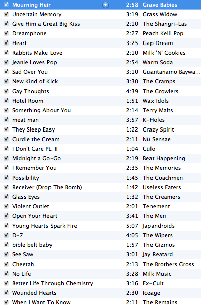 Check out my radio show now till 6pm central.  This is the playlist so far. Tune in.