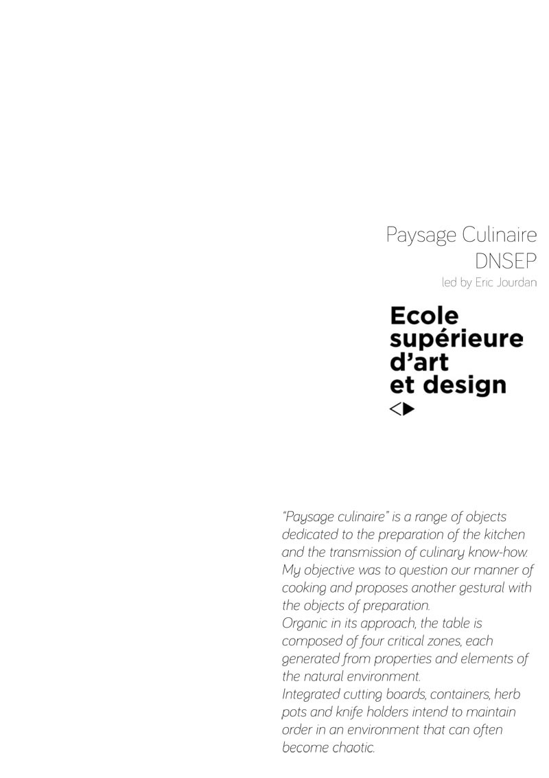 """Paysage Culinaire"", Ustensils, ESADSE (Saint-Etienne), 2011 funded by VIA and CODIFAB"