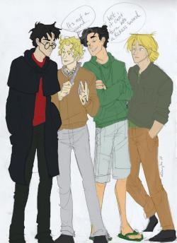 books-are-my-passion:  harry, jace, percy and peeta…