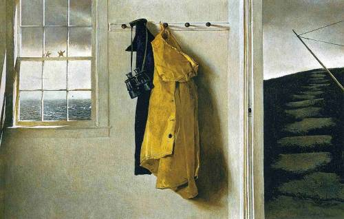 "kateoplis:  ""Courage is knowing what not to fear."" —Plato  Art: Wyeth"