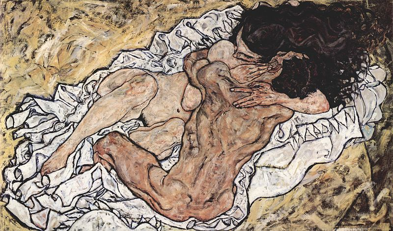 The Embrace (Die Umarmung), Egon Schiele, 1917