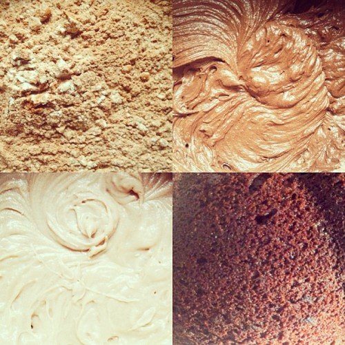 The Baking Process #baking #chocolate #cake