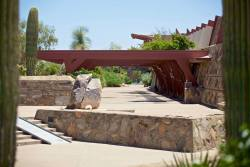 Taliesin West in Scottsdale, AZ was Wright's winter home and school in the desert from 1937 until his death in 1959 at the age of 91.www.zerve.com/TaliesinWest Photo by AP Photography.