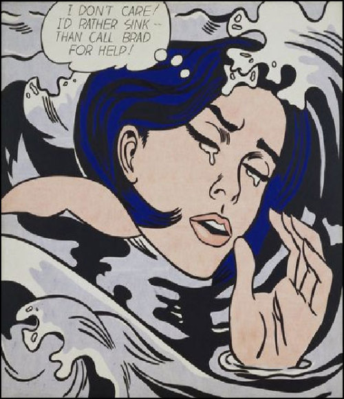 Drowning Girl by Roy Lichtenstein (1963)