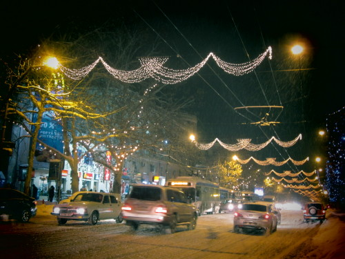 the main street of Chisinau