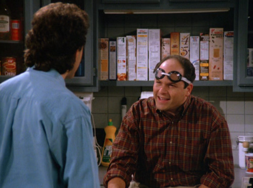 dailyseinfeld:  GEORGE: There must be some way to find out.JERRY: Amy said nothing happened.GEORGE: What, you're gonna take her word over mine? I'm your best friend!JERRY: Yeah, but you're blind as a bat!GEORGE: I was squinting! Remember that drive from Wortsborough? I was spotting those raccoons. JERRY: They were mailboxes, you idiot. I didn't have the heart to tell you. (via The Glasses)