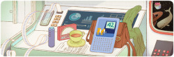 Today's Google Doodle is an interactive tribute to one of the funniest sci-fi novels ever — Douglas Adams' Hitchhiker's Guide to the Galaxy. The English writer Douglas Adams, who was born on March 11, 1952, started the Hitchhiker's Guide to the Galaxy as a radio play on BBC, and later developed it into a trilogy (though the novel act is in 5 parts).