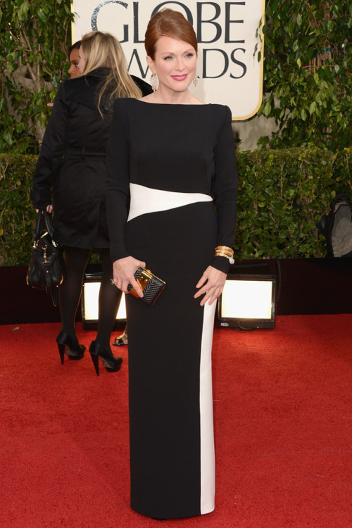 Elegancia Julianne Moore Golden Globes 2013