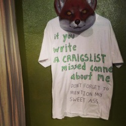 "chuckhistory:  ""If you write a craigslist missed connection about me, don't forget to mention my sweet ass."""