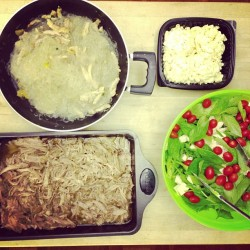 I can used to this cooking thing. Chicken long rice & Kalua pork made by me!  @terencewm you're missing out!!!!