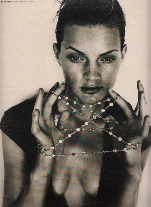 "80s-90s-supermodels:  ""Flawless"", W US, November 1995Photographer : Michael ThompsonModel : Guinevere van Seenus"