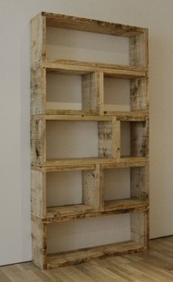 homesteadspun:  rustic shelf style