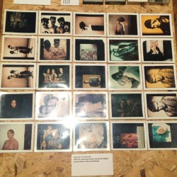Selection of #Polaroid s at the #Blitz exhibit at the #ICA