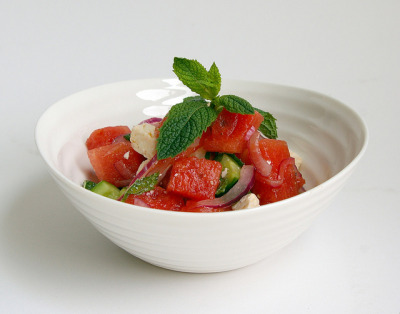 Feta-Watermelon Salad I by Patent and the Pantry on Flickr.