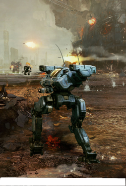 mechfight:  Mech Battle by flyingdebris