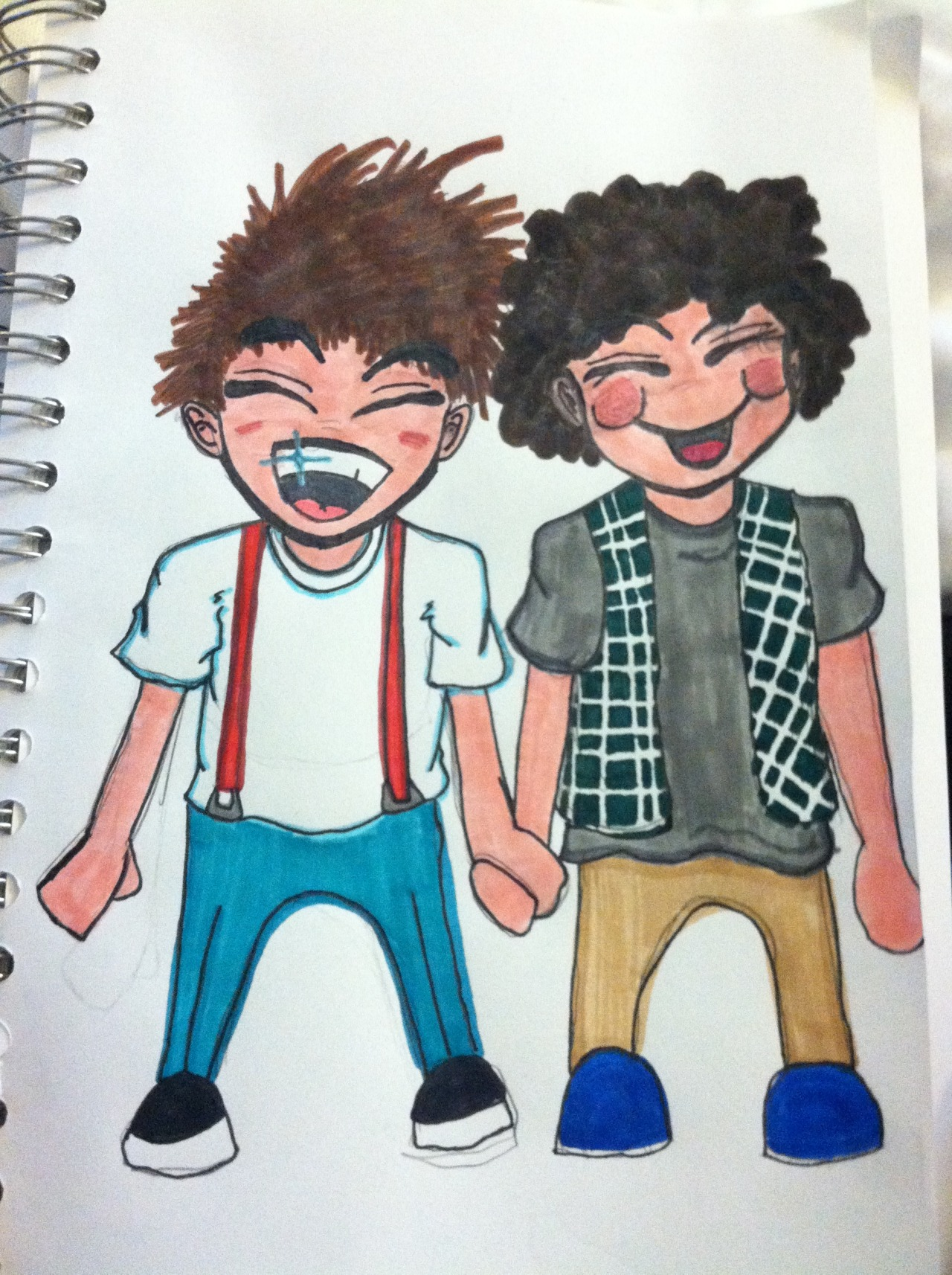 My Curi drew me some Larry love to make me feel better!