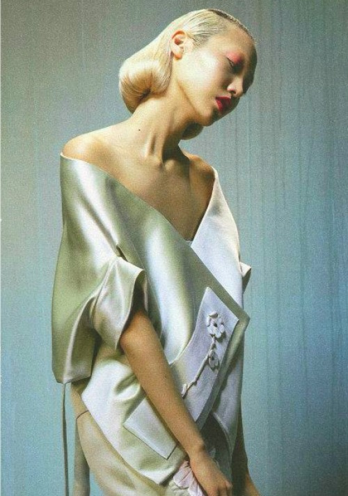 "sfilate:  Soo Joo in ""Silk and Steel"" photographed by Katja Mayer for The Sunday Times Style"