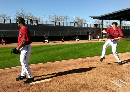 juniusworth:  The two new lefties in the Diamondbacks bullpen, Tony Sipp & Matt Reynolds throwing this morning. Salt River Fields Park Salt River Pima-Maricopa Indian Community near Scottsdale, Arizona Photo Steve Berthiaume