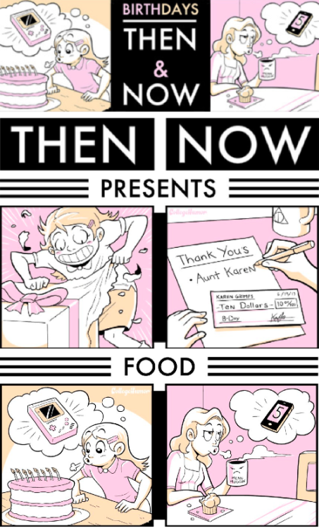 Your Birthday: Then and Now [Click to continue] This year, wish to never get older.