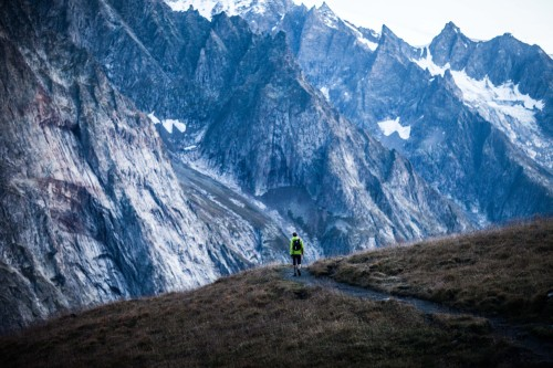 In running the UTMB, runners take on… and take in the massive scale of the Alps. (Follow our live UTMB cover on August 26 and 27, 2016!)Photo: Alexis Berg as captured in shooting his book, Grand Trail.