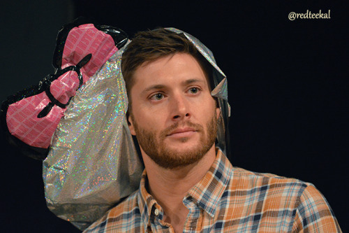 redteekal:  Jensen and the Hello Kitty Death Hat Brought to you by Sebastian.