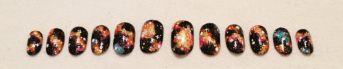 Etsy 's galaxy nails! Have you ordered yours yet?? 