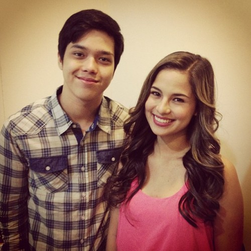 Backstage with @elmomagalona for the SMART Jump In show tonight!  (at Sky Dome)