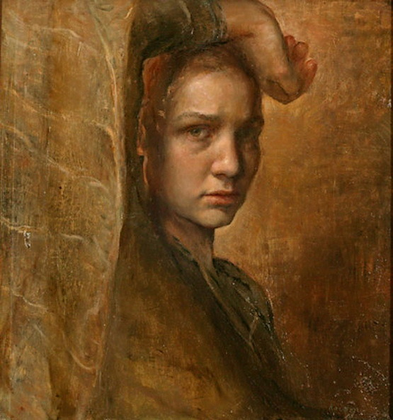 artistandstudio:  Helene Knoop, Melancholy (self-portrait)