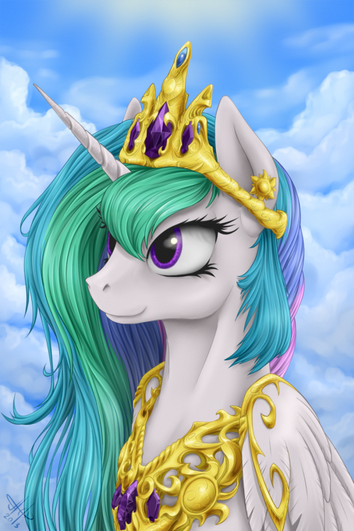 rawtoothsramblings:  princess Celestia by ~Jaz1rus  Second best Princess. (First is Twilight Sparkle, of course.)
