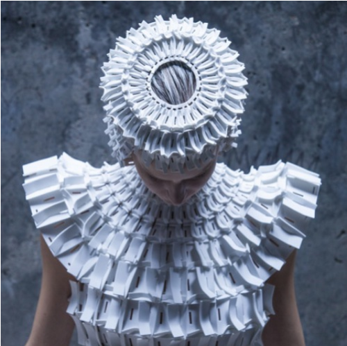thekhooll:  Gothic Architecture These garments made from interlocking foam pieces by Croatian designer Matija Čop reference construction techniques and shapes found in gothic architecture