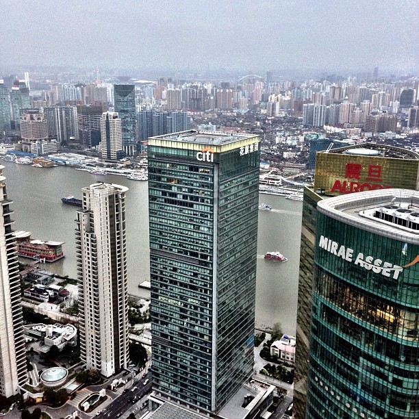#Shanghai from #RitzCarlton 52nd floor #lounge - #hightea #view #city #travel