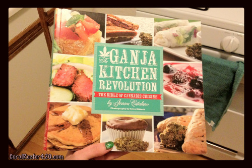 coralreefer420:  The Ganja Kitchen Revolution, a cannabis cookbook by Jessica Catalano.  Gotta get this