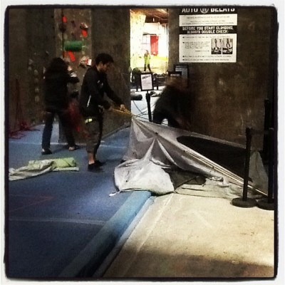 BKBeasts climbathon #behind the scene  (at Brooklyn Boulders)