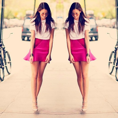 #regram @weworewhat just killing the look in our @ostwaldhelgason skirt. Only 2 left people! #ostwaldhelgason