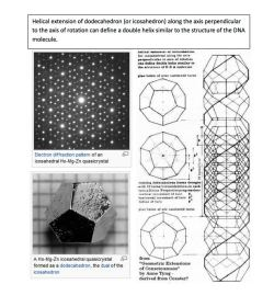 geometrymatters:  The fourth and the sixth Platonic Solids (dodecahedron and icosahedron) share their structure not only with crystals but also with human DNA as shown in the example.