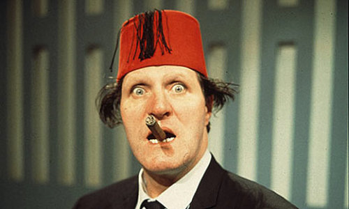 Letters of Note: Just like that British Comedian/Magician Tommy Cooper writes home to mum:  Dear Mum, How nice to hear you are getting on so well! Looking forward very much to seeing you and have a nice long rest with us Jan. All day yesterday, I heard a ringing in my ears — Then I picked up the phone and it stopped. I was going to see my doctor, but he isn't a very good doctor. All his patients are sick. Dove & myself are on a new diet. We eat our breakfast in the raw. Then we eat our lunch raw. For dinner we put on clothes. See you soon All my love Tommy xxxx