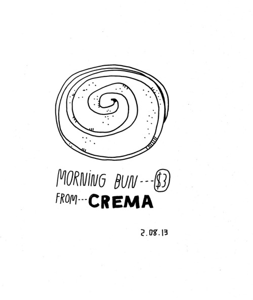 Daily Purchase Drawing for 02.08.13 Morning Bun from Crema.