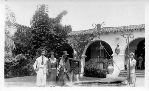 Zelda Fitzgerald in California. She is on the far right.