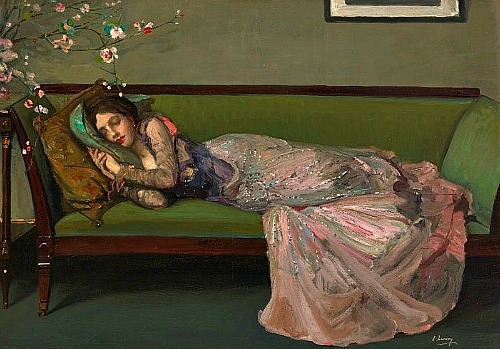 John Lavery The Green Sofa 1908