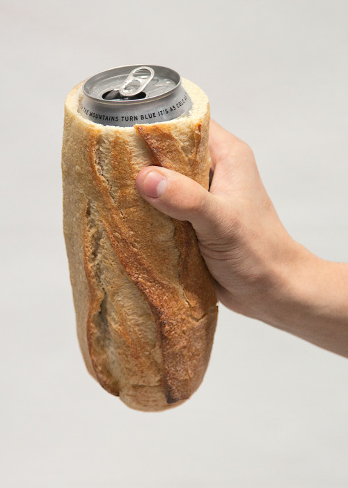 ary:  thejogging:  Baguette Koozie, 2012 Sculpture ⧗ + ¤  so smart for sippin on the street