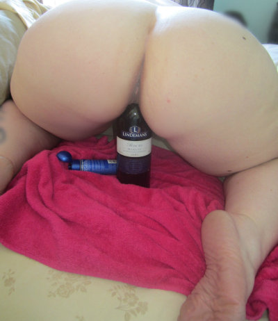 degradationofasubmissiveslut:  I fucked myself with a wine bottle this afternoon…there are more pictures. ;)
