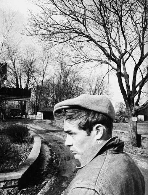 vintagegal:  James Dean photographed by Dennis Stock in Fairmount, Indiana, 1955