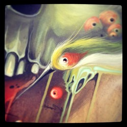 Also detail from a new painting #amatic #philipbosmans #popsurrealisme #bird #skull #organic #art #painting #acrylic #lowbrow#canvas #streetart #graffiti #hertkore #hasselt #hk #art#instagood