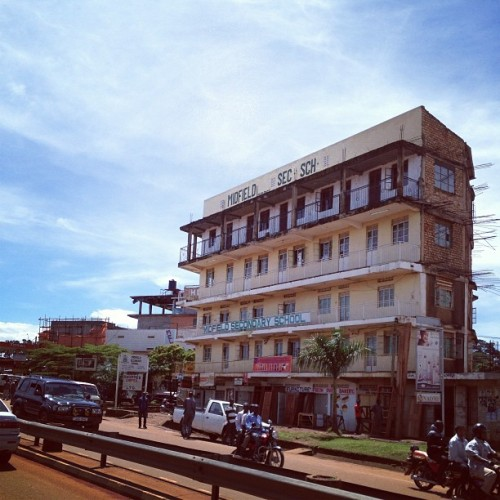 lisamarie620:  High school in Uganda!  (at Clock Tower)