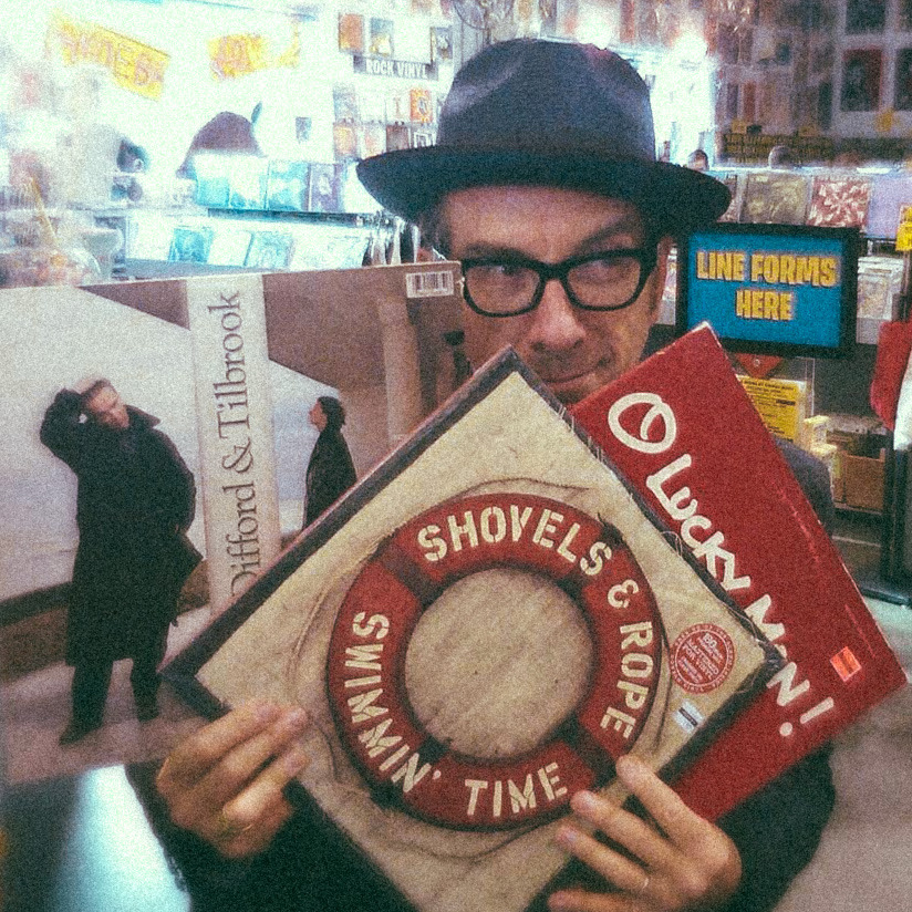 themadeshop:  Mr. Costello with the new Shovels & Rope record we designed! It's out now, and I can't recommend it highly enough. It's so good.   Stop it!