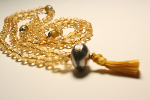 Citrine and sterling silver mala beads - Quiet Mind on Etsy   https://www.etsy.com/listing/123660479/radiant-yellow-citrine-mala-beads