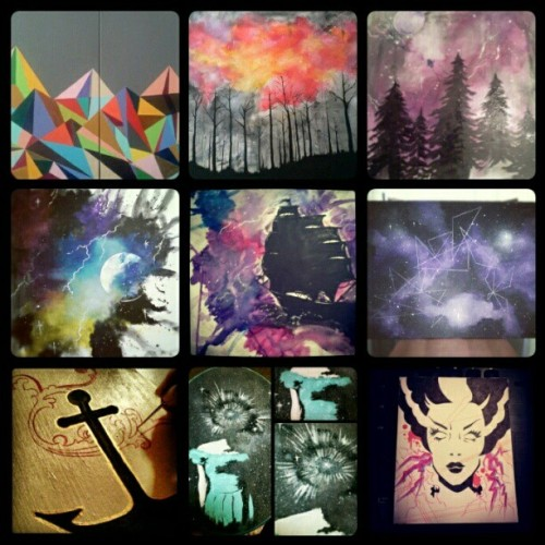 #Recap of some awesome #art I did this #pastyear #2012 #paint #paintingsidid #space #canvas #acrylic #painting #autumnorchid